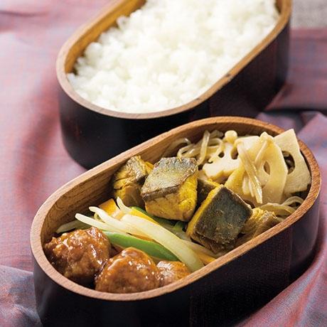 鯖のカレー佃煮風弁当