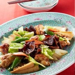 鶏肉と野菜の中華風炒め