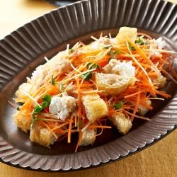 雪下人参と栃尾油揚げのechigo salad