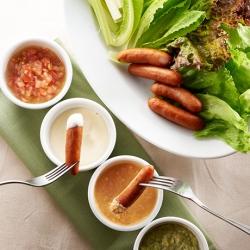 ウインナーとグリーンリーフのディップサラダ