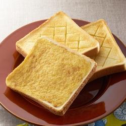 塩トーストとプリンでフレンチトースト