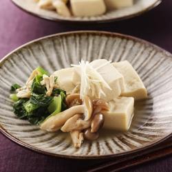 高野豆腐とあさりの煮物