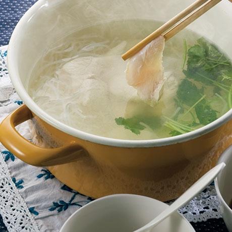 鶏のスープ炊き