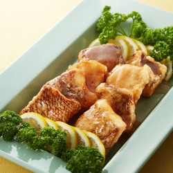 鯛の中華風レモンソースかけ