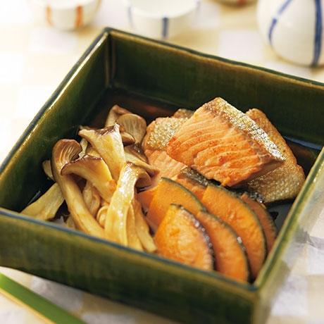 鮭の焼き浸し 野菜添え