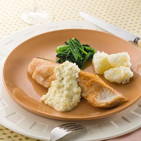 鮭のムニエル タルタルソース