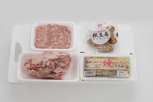 鶏ひき肉の味噌鍋