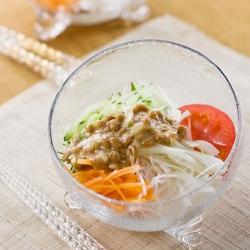 納豆ドレッシングのサラダ