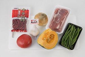豚肉と夏野菜の煮込み
