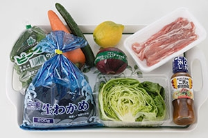 夏野菜の豚肉サラダ