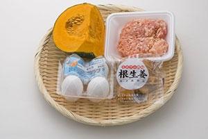 鶏ひき肉かぼちゃ