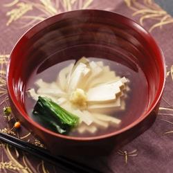 菊花豆腐の吸い物