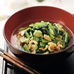 小松菜と打ち豆の煮びたし