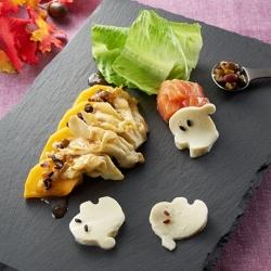 おけさ柿とサーモンのechigo salad