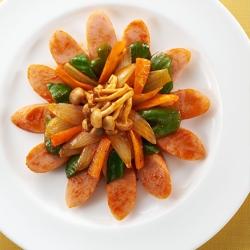 魚肉ソーセージのケチャップ炒め