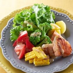 秋鮭のパワーサラダ