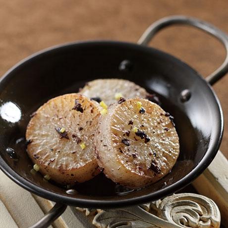 大根のオリーブオイル焼き