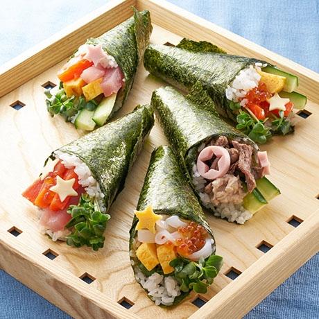 キラキラ手巻き寿司