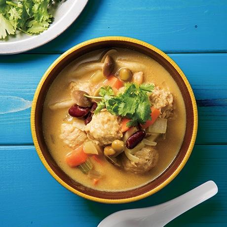 肉団子のカレースープ
