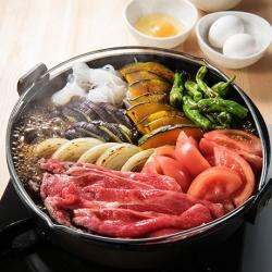 夏野菜のすき焼き