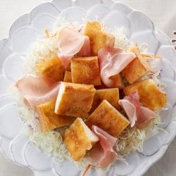 チーズガレット風 on サラダ