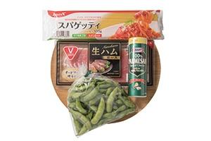 枝豆のスパゲッティ