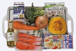 鮭とかぼちゃのクリームシチュー