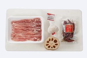 豚肉とれんこんの甘酢炒め