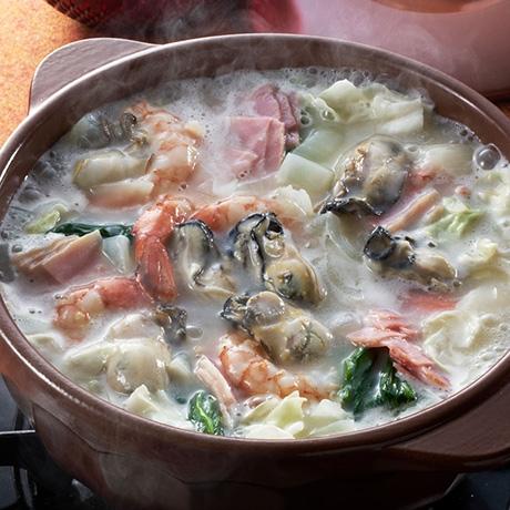 シーフードクリーミー鍋