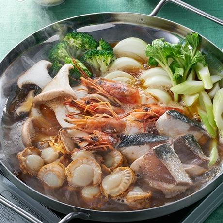 ほたてタップリ海鮮すき焼き