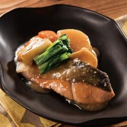 鮭と秋野菜の味噌煮