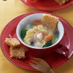 ふんわり卵の春雨スープ