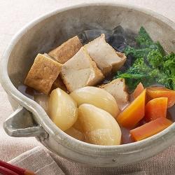 春野菜と厚揚げの煮物