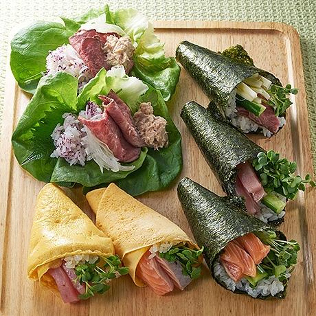 ひなまつり パーティー手巻き寿司