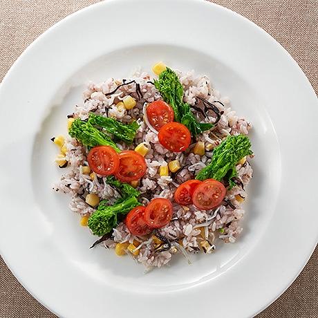 雑穀米で混ぜ混ぜライスサラダ