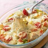春野菜とチキンのスパゲッティグラタン