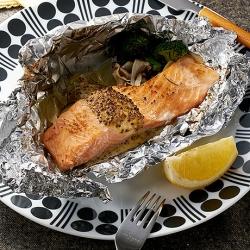 銀鮭のマスタードホイル焼き