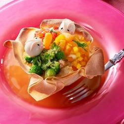 春巻きカップのイースターECHIGO salad
