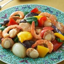 ゴロゴロ具材の夏野菜炒め