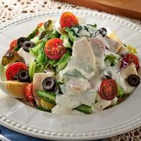 夏野菜のマヨチキンECHIGO salad