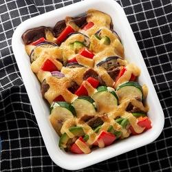 豚肉と夏野菜の味噌マヨネーズ焼き