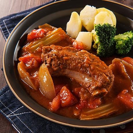 骨付き肉のやわらかトマト煮
