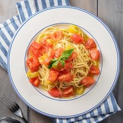 トマトの冷製スパゲッティ