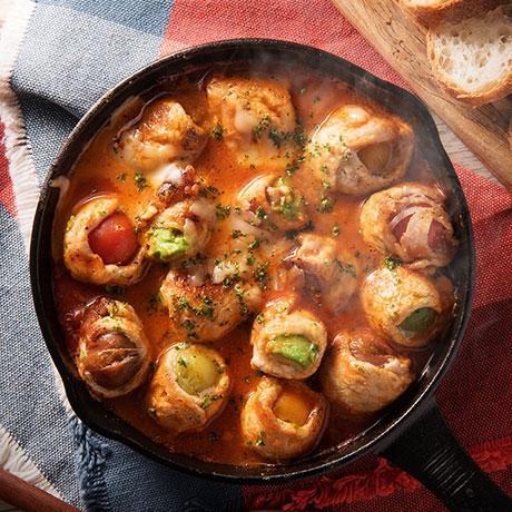 トマトとアボカドのインボルティーニ風