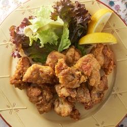 カレー味の鶏から揚げ