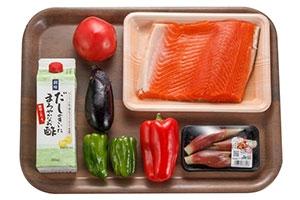 鮭と夏野菜のさっぱり炒め