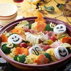 ハロウィンかぼちゃポタージュ鍋