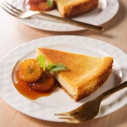 味噌チーズケーキ キャラメルバナナ添え