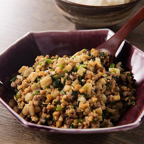しゃきしゃき味噌納豆