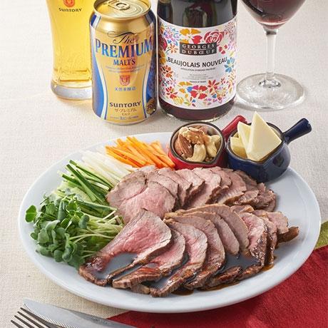 ローストMEATの赤ワイン煮